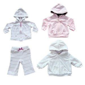 Lot of Baby Girl Hoodies Pants & Jacket 3-6 months